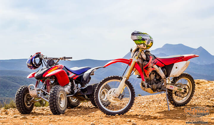 1/2 Day ATV or Dirt Bike Riding Tours in San Diego and Baja