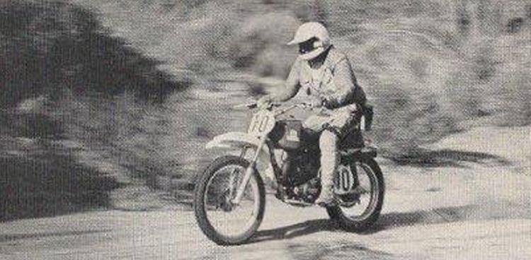 legend dirt bike riding Baja