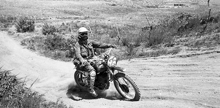 baja two stroke motorcycle riding