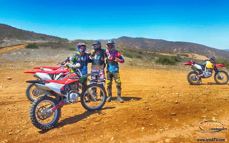 dirt bike riding with friends