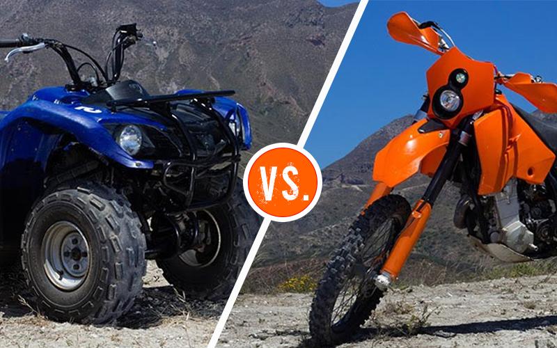 atv vs dirt bike