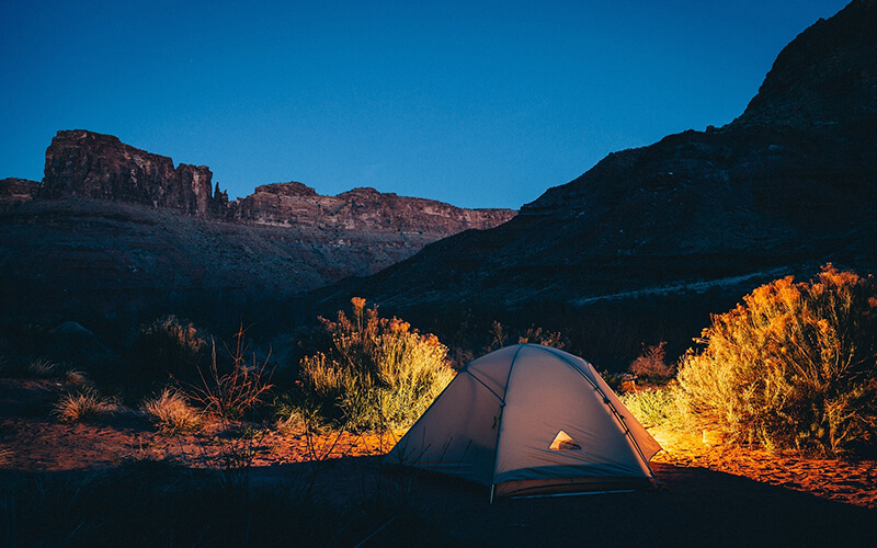 bachelor party idea camping
