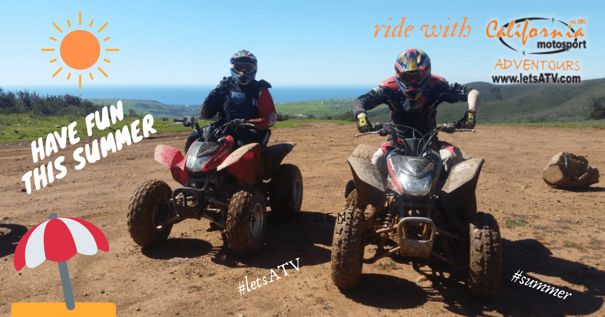 summer ATV and dirtbike riding adventure tours with LetsATV