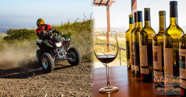 ATV wine tasting tour with LetsATV
